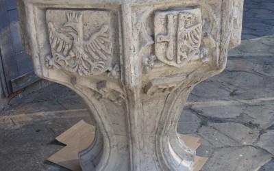 Kopia chrzcielnicy z Katedry Opolskiej