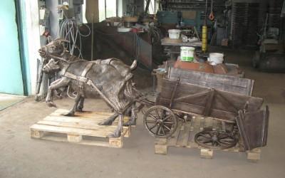 Wóz z kozami